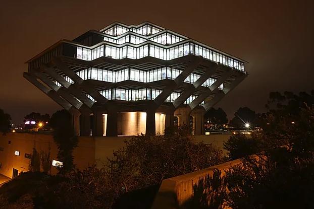 Biblioteca brutalista