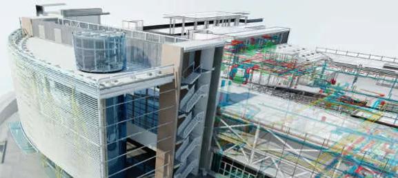 Imagen de un edificio con Revit