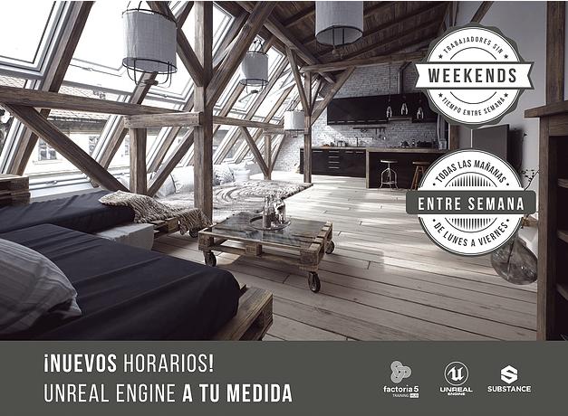 Nuevos horarios de las clases de Unreal Engine